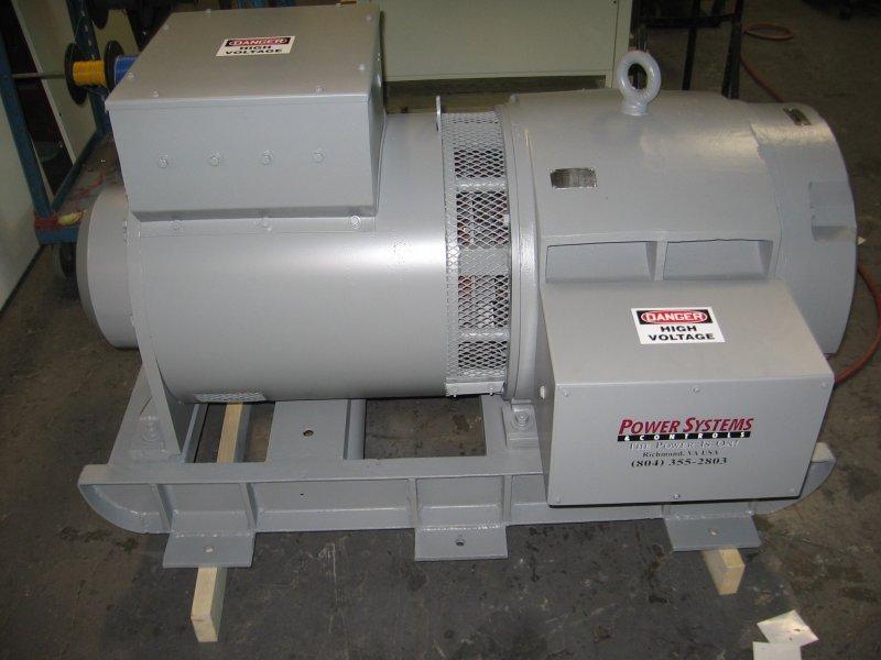 Synchronous Motor Generator Set Testing Motor Generator