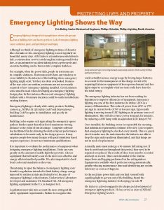 ElectroIndustry Article - Emergency Lighting