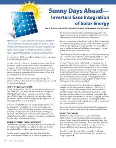 ElectroIndustry Article - Inverters