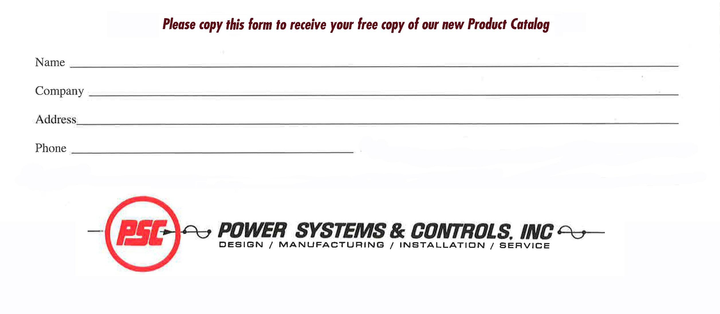 PS&C Catalog Form